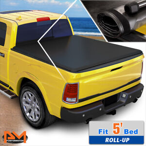 Vinyl Soft Top Roll Up Tonneau Cover For 16 18 Tacoma Pickup Fleetside 5ft Bed