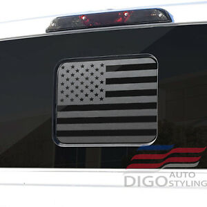 2015 2021 Ford F150 F250 F350 Back Middle Window American Flag Decal Sticker Blk