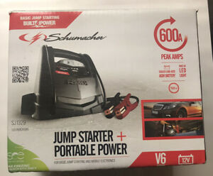 Schumacher Sj1329 600 Peak Amp Jump Starter And 12v Portable Power Port