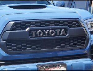 New Black Front Bumper Grille Fit For 2016 2020 Tacoma Hood Grill W Letters
