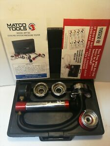 Matco Tools Model Rpt101 Cooling System Pressure Tester Complete In Case Usa