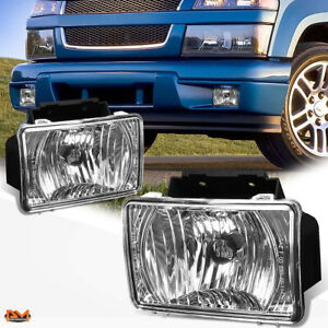 For 04 12 Gmc Canyon chevy Colorado Clear Lens Oe Bumper Driving Fog Light lamp