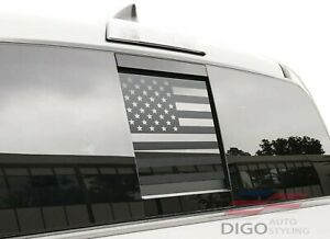 2016 2021 Toyota Tacoma Rear Middle Window American Flag Decal Sticker Matte Blk