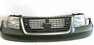 2003 Ford Expedition Xlt Headlight Mounting Panel W Headlights Grille Bumper