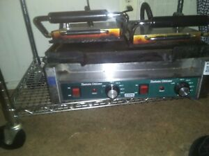 Waring Wfg300 Ottimo Flat Top Bottom Commercial Panini Sandwich Grill 240v