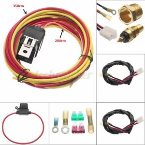 165 Off 185 On Dual Electric Fan Relay Wiring Harness Thermostat Sensor 40a Kit