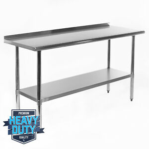 Open Box Stainless Steel Kitchen Restaurant Work Prep Table Backsplash 24 x60