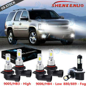 For Chevy Suburban 2000 2006 Tahoe 2001 2006 Led Headlight Fog Light Bulbs Kit