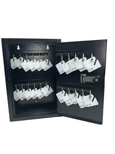 Kyodoled Key Storage Lock Box With Code 40 Key Hooks Tags read Description