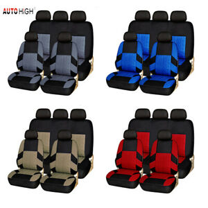 Auto Seat Covers Front Rear Head Rests Universal Protector For Car Truck Suv Van