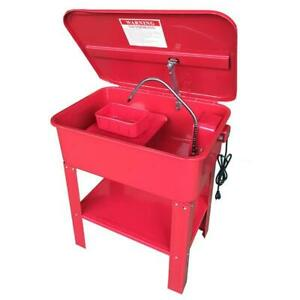 20 Gallon Automotive Mobile Parts Washer Cart Electric Solvent Pump Cleaner 110v