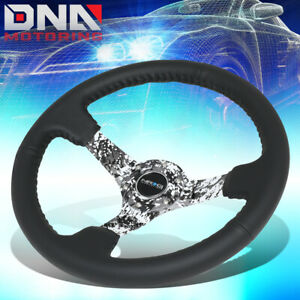 Nrg Rst 036dc r 350mm 3 deep Dish Leather Camo Spoke Steering Wheel horn Button