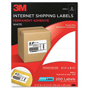 3m Shipping Labels 5 50 X 8 50 200 pack Same Size As Avery 5126 Laser