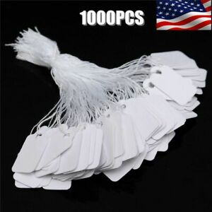 1000pk Price Tags Marking Label Paper Key Small Lot Retail Merchandise Store A