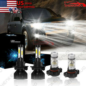 For Ford Escape 2008 2012 Led Headlights High Low Beam Fog Light Bulbs Combo