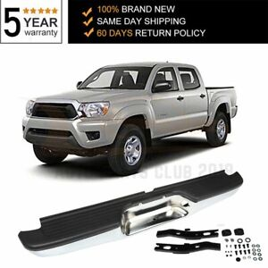 New Chrome Complete Rear Steel Bumper For 2000 2001 2004 Toyota Tacoma