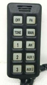 Federal Signal 650 Series Remote Pa Mic Siren Controller Wired Remote Only