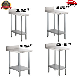 18 Gauge Nsf Stainless Steel Restaurant Kitchen Filler Table With Backsplash