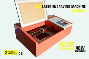 Diy Desktop 40w Co2 12x8 Inches Wood Laser Engraver Cutter With Exhaust Fan
