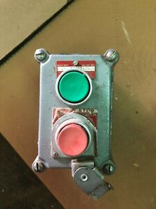 Killark Xcs 0b4 Double Push Button Cover With Device Green red Start stop