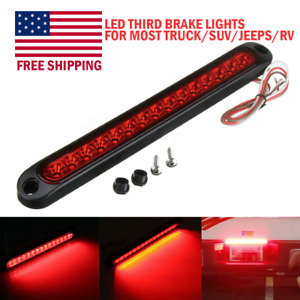 Universal Red Car Auto 15led 12v High Mount Third 3rd Brake Stop Tail Light Lamp