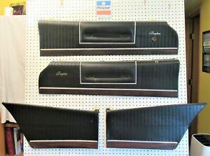 1973 73 1974 74 Dodge Charger Se Brougham Upper Door Panels Set Of 4 Black