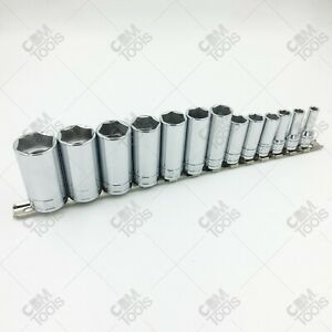 Sk Hand Tools 4413 13 Piece 3 8 Drive 6 Point Deep Fractional Chrome Socket Set