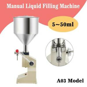 5 50ml Liquid Filling Machine Cosmetic Filler For Cream Shampoo Paste Water New