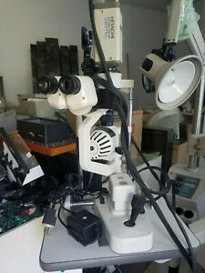 Topcon Sl 2ed Slit Lamp excellent Condition With Hitachi Camera And Haag Streit
