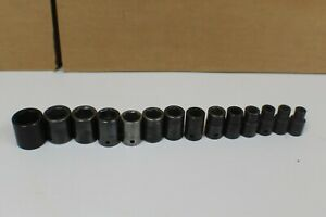 Matco Tools 14 piece 1 2 Drive 6 point Shallow Impact Socket Set 10 19 21 22 24