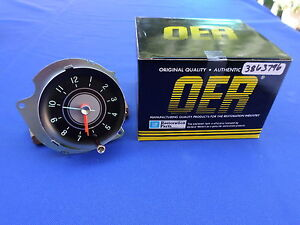 New 1963 65 Chevrolet Chevy Ii Nova Console Clock Oer Parts 3863796 Gm Licensed