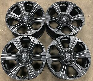 Emr Panther Off Road Black And Machined Aftermarket 20 Wheels Rims 902920