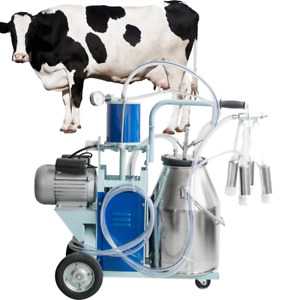 Electric Milking Machine For Farm Cows Goat Bucket 25l 304 Stainless Steel 110v