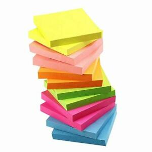 Sticky Strong Adhesive Block Memo Stationery Convenient Notepad Neon Color 75