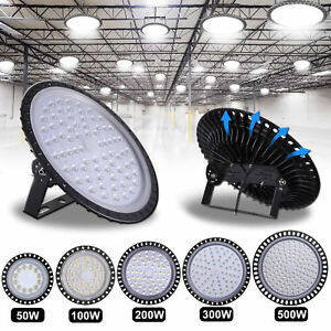 50w 100w 200w 300w 500w Led Ufo High Low Bay Light Factory Warehouse Lighting
