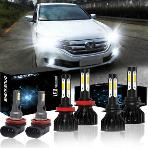 For Honda Accord 2013 2014 2015 6x Led Headlight High low Beam fog Light Kit