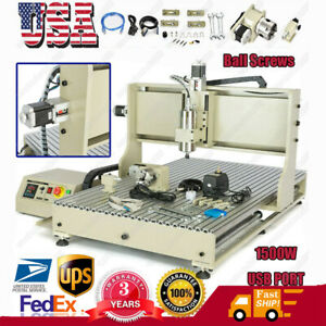 1500w 1 5kw 4axis Usb Cnc 6090 Router Engraver Wood Metal Mill Cutter Machine