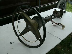 1968 1970 Steering Column Shift Lever Turn Signal Wire Harness Wheel Horn Button