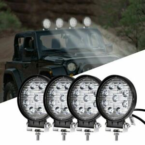 4inch 27w Cree Led Work Light Bar Spot Beam 4wd Offroad Fog Atv Suv Driving Lamp