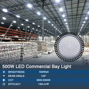 500w Ufo Led High Bay Light Warehouse Industrial Light Fixture 40000lm