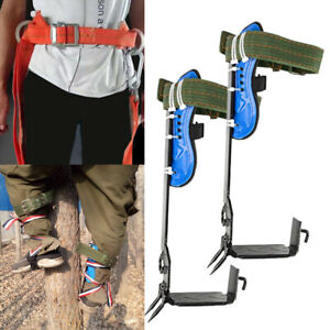Tree Climbing Spike Stainless Steel Claw Safety Belt Straps Rope Rescue Tool