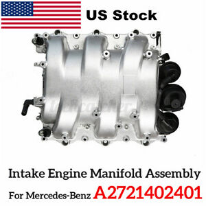 Intake Engine Manifold Assembly A2721402401 For Mercedes C230 C250 C280 Glk350