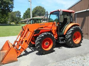 2011 Kubota M9540 Cab loader 4x4 With 2 599hours Nice Tractor