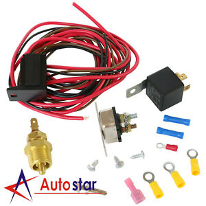 New Fan Thermostat Relay 175 185 Degree Wiring Switch Kit For 330 351w Engines