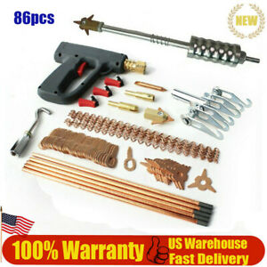 86pcs Stud Welder Dent Puller Kit Car Body Panel Dent Spot Welding Repair Fast