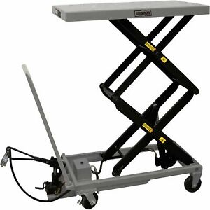 Roughneck Air hydraulic Lift Table Cart 770lb Capacity