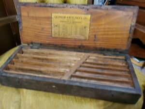Vintage Genuine Critchley six Adjustable Hand Reamer Wood Box Only Hardware Tool