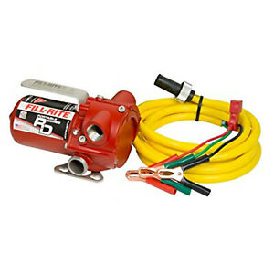 Fillrite Rd812nn 12v Rotary Portable Fuel Transfer Pump With 10 Foot Power Cord