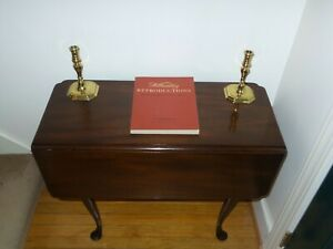 Kittinger Colonial Williamsburg Mahogany Queen Anne Drop Leaf Table Wa 1020