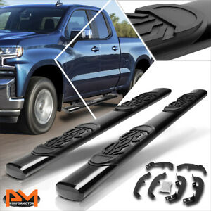 For 19 20 Chevy Silverado Ext Cab 6 Oval Side Step Nerf Bar Running Board Black